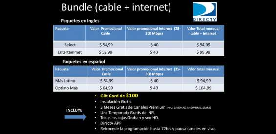 Tv cable + internet --- directv en South L.A. - Otros ...